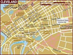 map of cleveland map of cleveland
