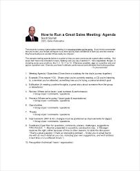 sales meeting agenda template u2013 11 free word pdf documents