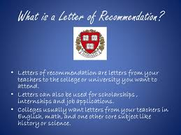 asking for letters of recommendation what is a letter of