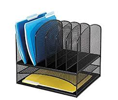 Upright Desk Organizer Safco Products 3255bl Onyx Mesh Desktop Organizer