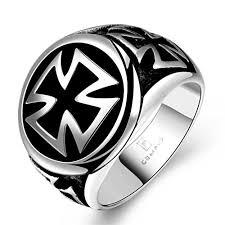 men rock rings images Hmilydyk hot cool fashion 316l stainless steel cross ring band jpg
