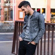 aliexpress buy 2016 new european men 39 s jewelry simwood 2018 casual denim jackets men s 100 cotton new european and