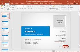 powerpoint resume template to make a resume in powerpoint