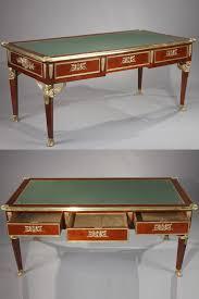bureau ancien ancien en acajou et bronze doré de style empire
