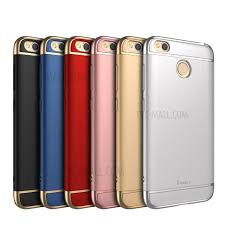 IPAKY for Xiaomi Redmi 4X Electroplated 3 in 1 PC Hard Case Cover