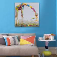 Giraffe Home Decor by Online Get Cheap Giraffe Oil Painting Aliexpress Com Alibaba Group