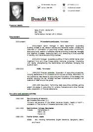 cv format resume free download sample resume format free resumes