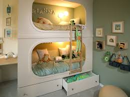 Double Deck Bed Designs With Drawer Bunk Beds Inspiring Cool Double Beds With Recessed Bunk Bed