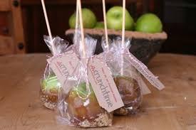 caramel apple party favors fleur de sel caramel apples baptism bake sale