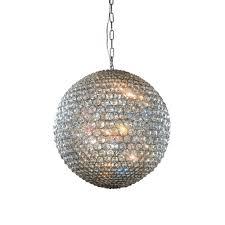 Sphere Pendant Light Illuminati Lighting Milano Large Crystal Globe Pendant Light