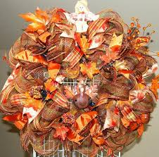 fall thanksgiving turkey deco mesh by kraftykreations4u on zibbet
