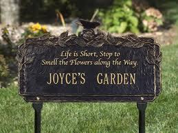 outdoor memorial plaques butterfly poem personalized garden plaque