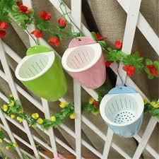 hanging basket self watering plant flower pot s m l wall plastic