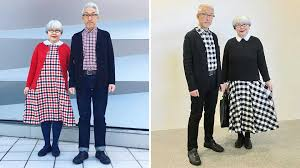 tartan twinning japanese couple wears matching wins hearts everywhere