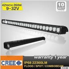 automotive led light bars 42 inch 260w car led light bar single row offroad bar light sidhu