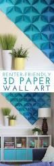 best 25 cool wall art ideas on pinterest homemade wall art renter friendly 3d paper wall art