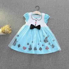 light blue dresses for kids 2018 kids halloween performance clothes alice dress girls sleeveless