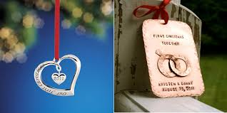 together as newlyweds tree ornaments