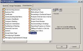 how can you create a new presentation using an esisting template