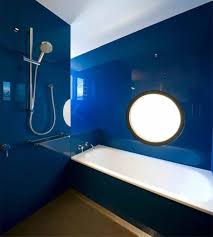 glossy navy blue bathroom design ideas popular blue bathroom