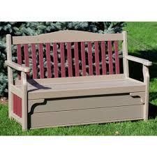Patio Storage Bench Amish Outdoor Storage Benches Pinecraft Com