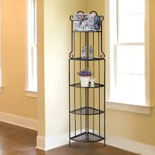 aosom outsunny 5 tier decorative metal corner plant shelf stand