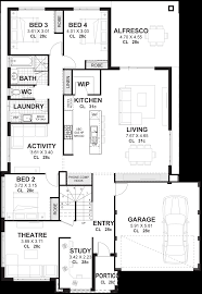 4 Bdrm House Plans 4 Bedroom House Plans U0026 Home Designs Perth Vision One Homes