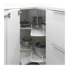 cuisine en angle ikea utrusta rangement pivotant élément d angle ikea