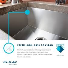 Elkay Crosstown Sink by Elkay Crosstown Efu321910 30 70 Double Bowl Undermount Stainless