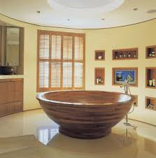 wood bathtub home decor