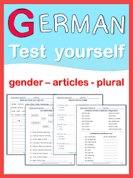 german test yourself gender articles plural early finishers