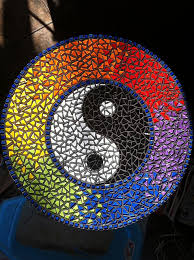 Yin Yang Table by Madeleen Willer Yin Yang Mosaics And Glass