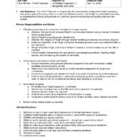 chemical operator resume professional experience and computer skills for forklift operator