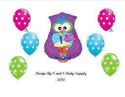 amazon com purple owl happy birthday party balloons decorations