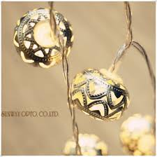 Battery Powered Led Lights Outdoor by Superb Led Battery Operated Moroccan Orb Led Fairy String Lights