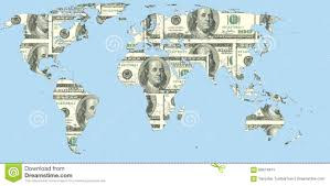 World Map Us by International Currency World Map Us Dollar Royalty Free Stock