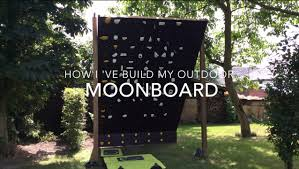 how to build an outdoor moon board bouldering climbing wall