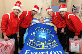 Funny Everton Memes - liverpool fc players visit a sick kid in hospital not knowing he