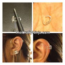 how to make ear cuffs diy tutorial diy ear cuffs diy wire ear cuff bead cord