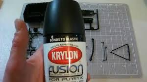 krylon fusion paint results styrene plastic youtube