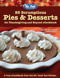 thanksgiving fun desserts free mr food holiday ecookbooks mrfood com