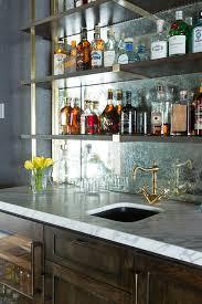Wet Bar Mirror Backsplash Design Ideas - Mirror backsplash