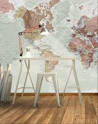 executive political world map wall mural wall murals walls and executive political world map wall mural