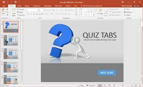 Powerpoint Quiz Template Free a quiz in powerpoint with quiz tabs powerpoint template