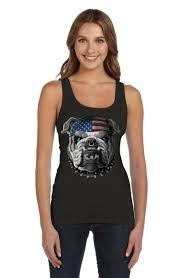 Flag Corps Usa Mascot Flag Bulldog Army Marine Corps 4th July Women Tank Top