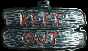 halloween prop motors gothic horror sign keep out halloween prop decoration haunted