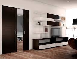 Catchy Door Design Interior Dark Brown Wooden Sliding Interior Door Designs For