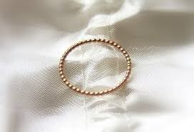 buy wedding rings images Buy hand crafted one 14k rose gold beaded dotted band wedding jpg