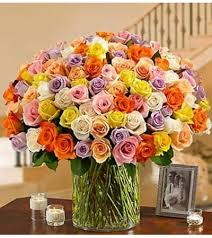 multicolored roses 100 premium multicolored la porte tx florist