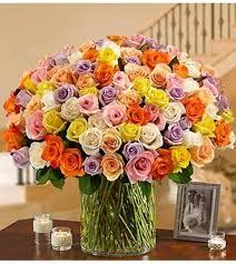 Multi Colored Roses 100 Premium Multicolored Rose U2026 Altamonte Springs Fl Florist